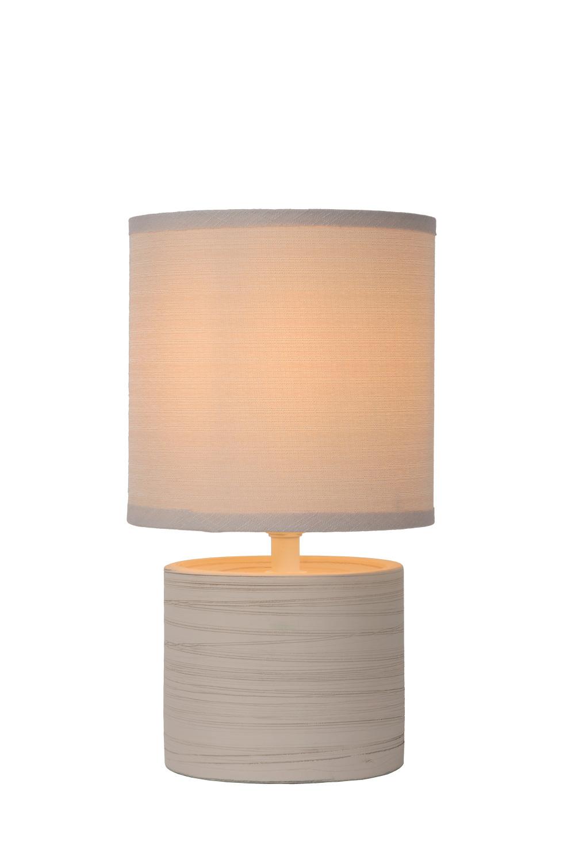 Lucide Greasby Tafellamp E14 H26cm Beige