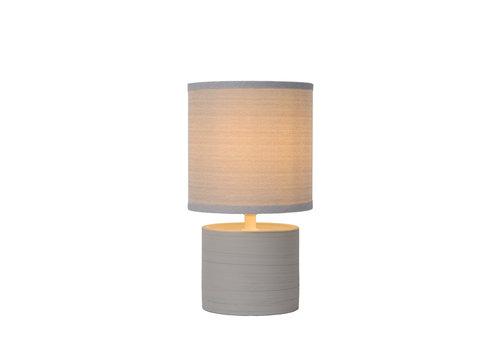 Lucide GREASBY Tafellamp-Grijs-Ø14-1xE14-40W-Kerami.