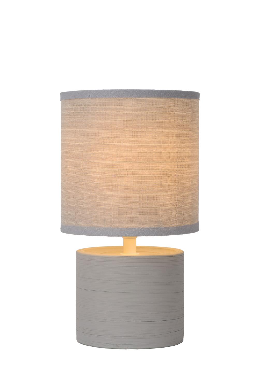Lucide GREASBY Tafellamp E14 H26cm Grijs