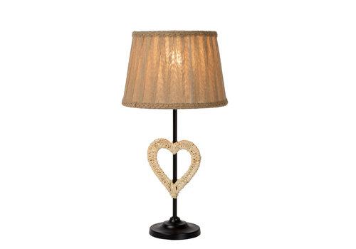 Lucide SHIRLY Tafellamp E27(hart) H 46cm Zwart
