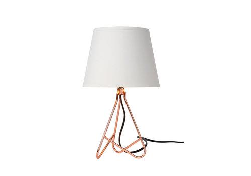 Lucide GITTA Tafellamp E14 H30cm Rood Koper
