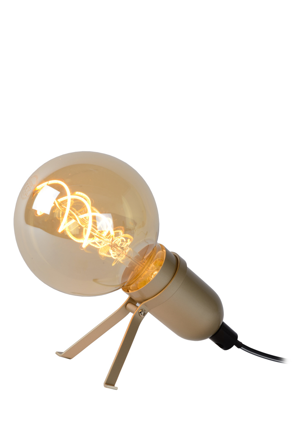 Lucide PUKKI Tafellamp-Mat Go.-LED-1xE27-5W-2200K-Metaal