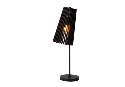 Lucide NORALIE Tafellamp-Zwart-1xE27-40W-Hout
