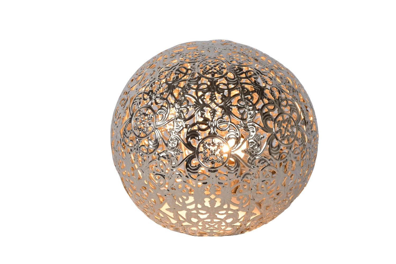 Lucide PAOLO Tafellamp-Zilver-Ø14,5-1xG9-28W-Metaal