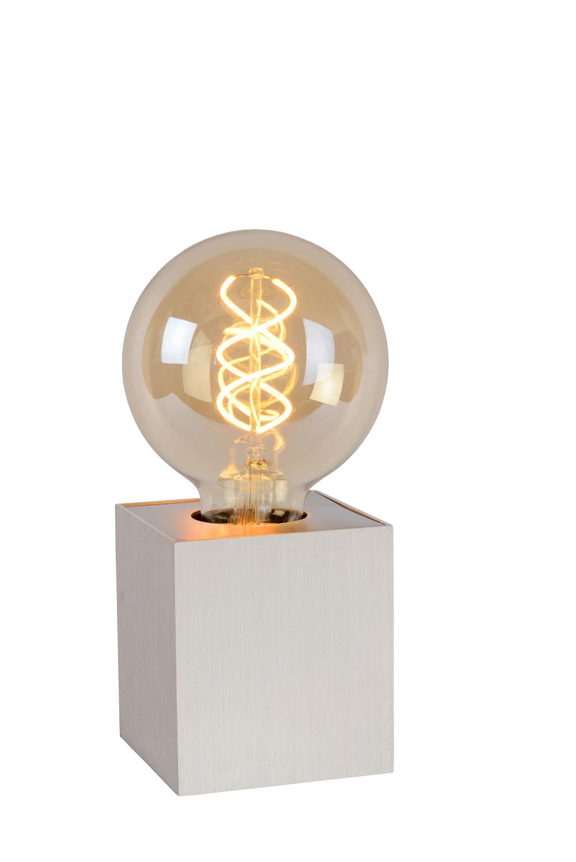 Lucide PABLO Tafellamp E27 L8cm B8cm H9cm Mat Chroom