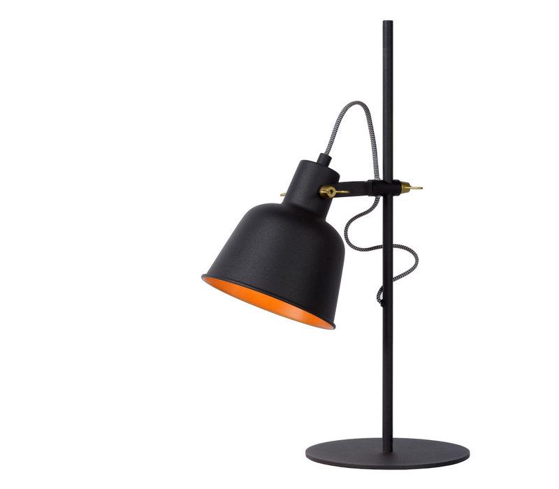 PIA Tafellamp 1 xE27/40W Mat Zwart/Mat Goud