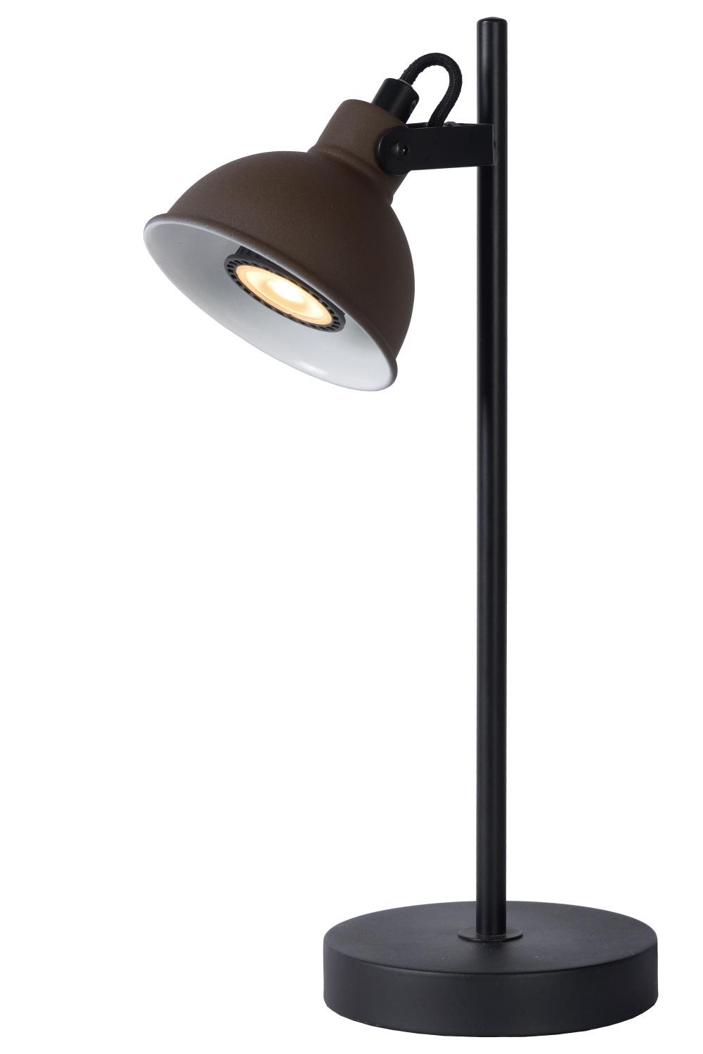 Lucide DAMIAN Bureaulamp GU10/35W H38cm Roest Zwart