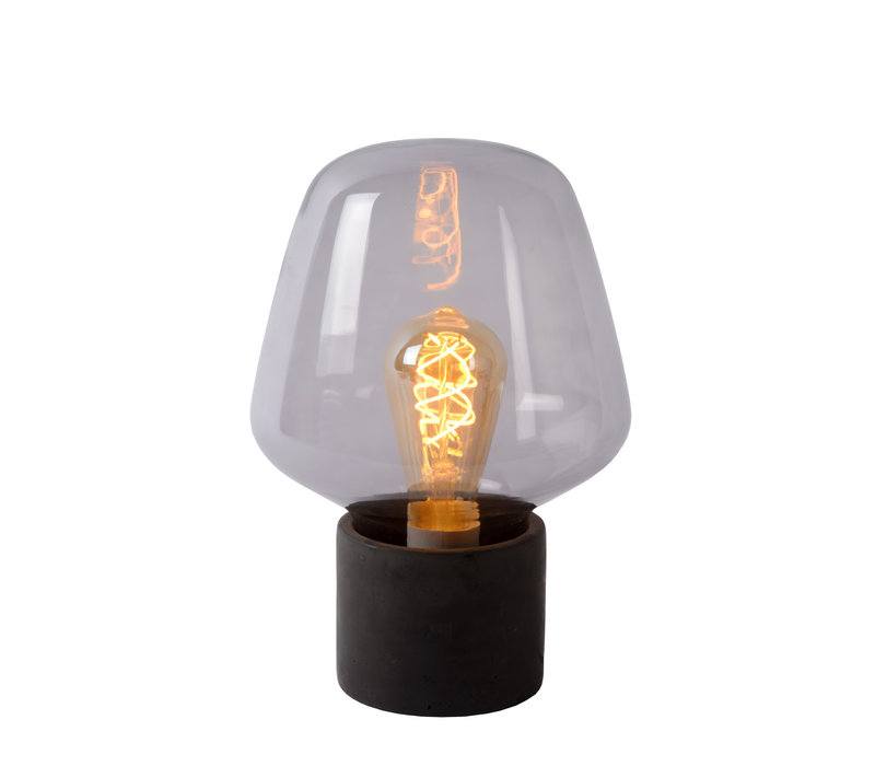 BECKY Tafellamp E27/40W H30cm Smoke
