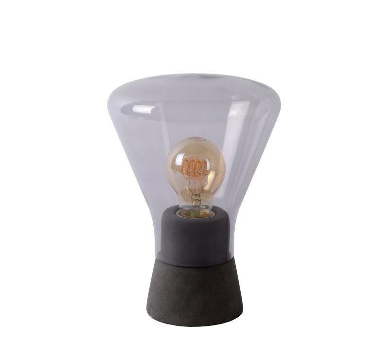 BARRY Tafellamp E27/40W H24cm Smoke