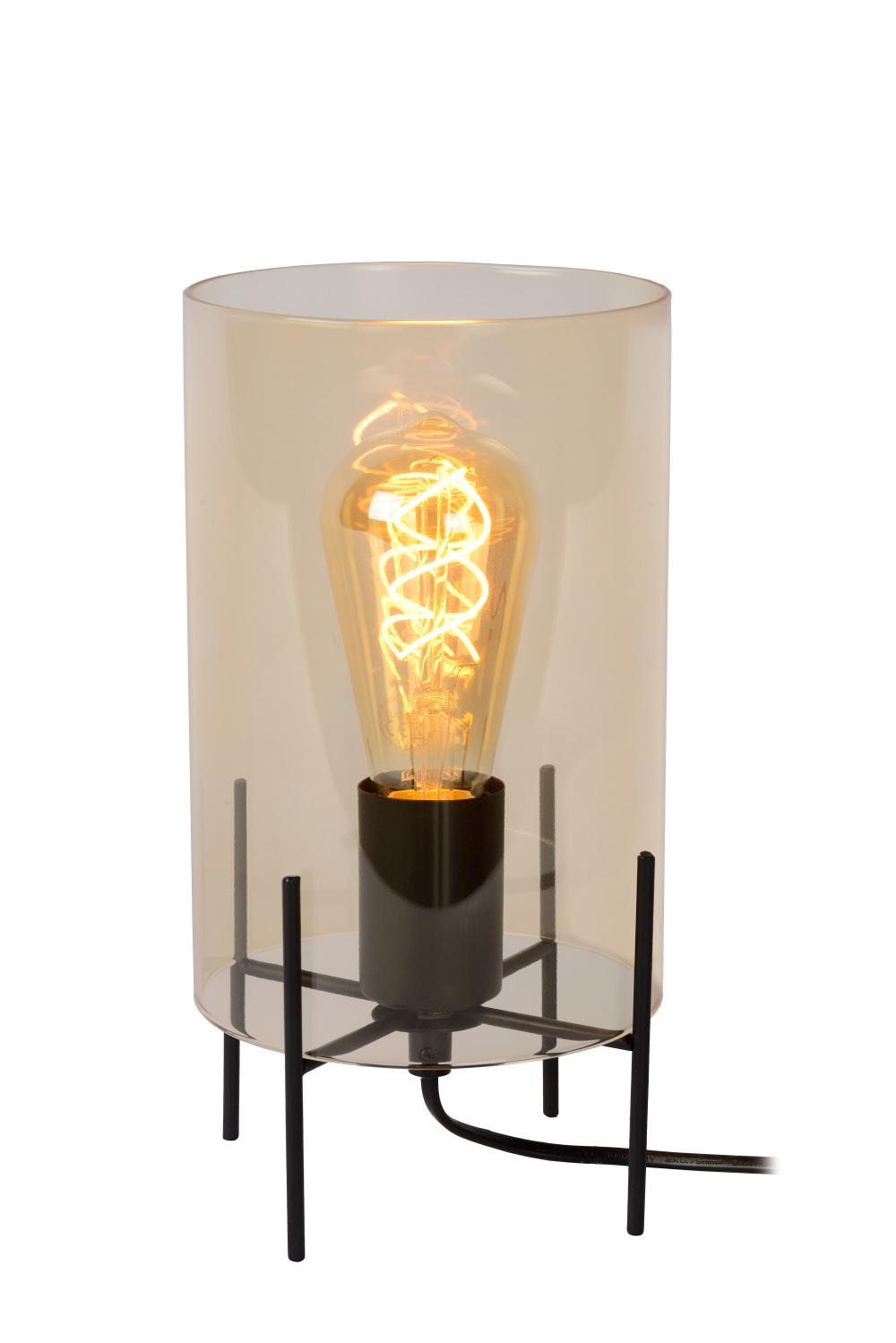 Lucide STEFFIE Tafellamp-Amber-Ø15,5-1xE27-40W-Glas