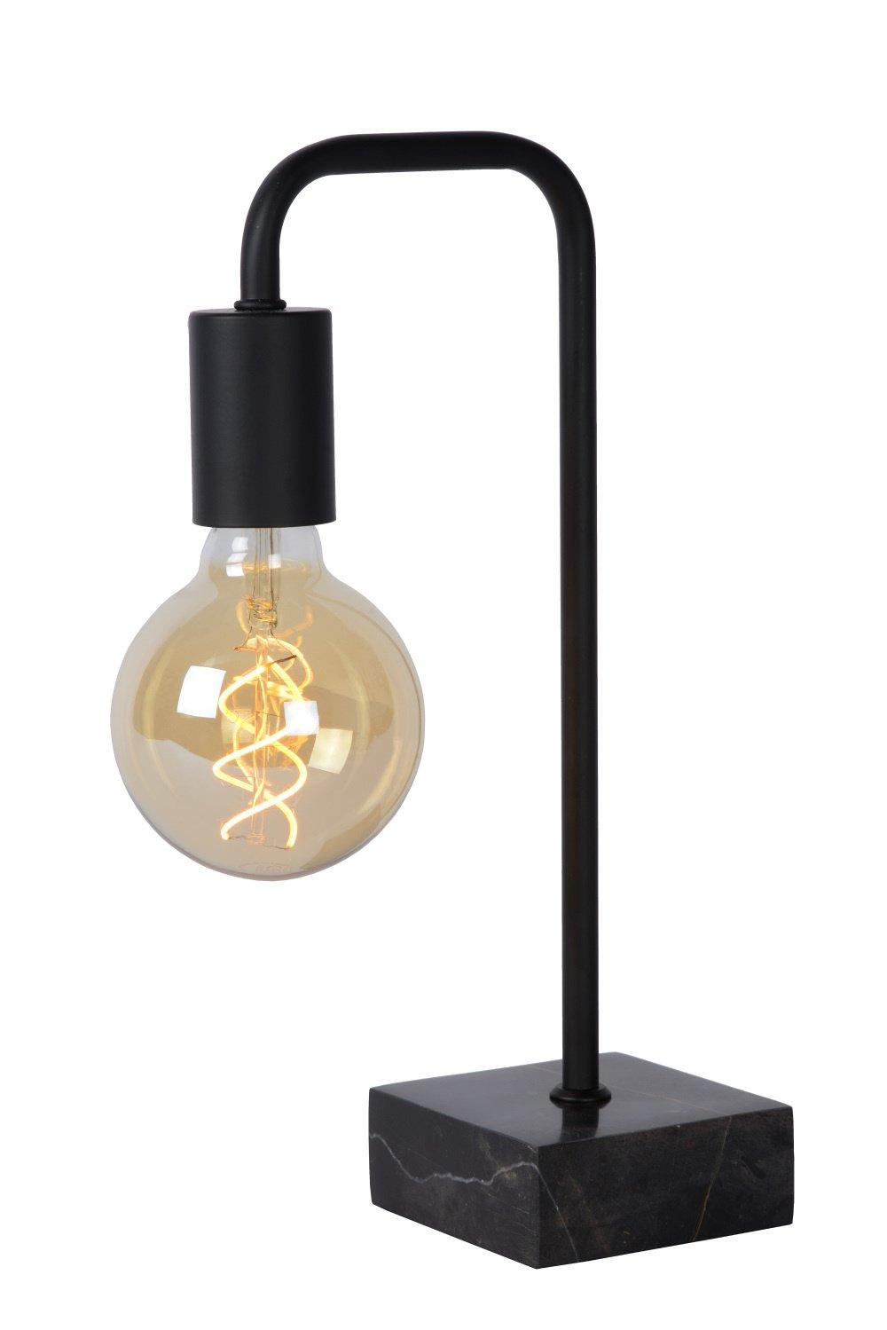 Lucide LORIN Tafellamp-Zwart-1xE27-40W-Staal