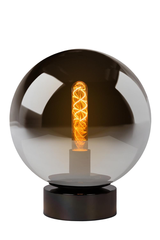 Lucide JORIT Tafellamp-Fumé-Ø25-1xE27-60W-Glas