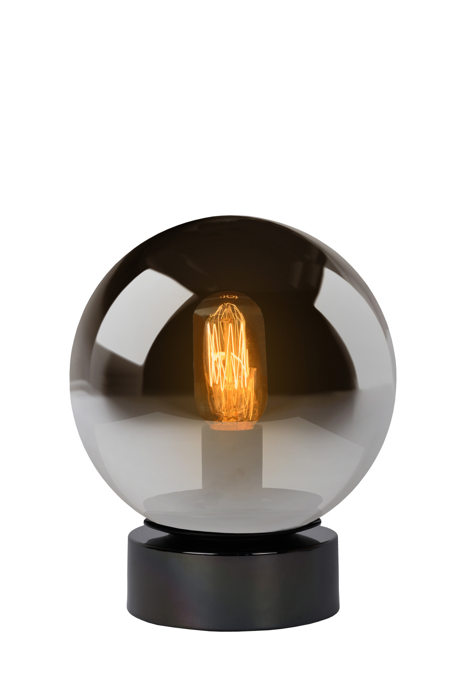 Lucide JORIT Tafellamp-Fumé-Ø20-1xE27-60W-Glas
