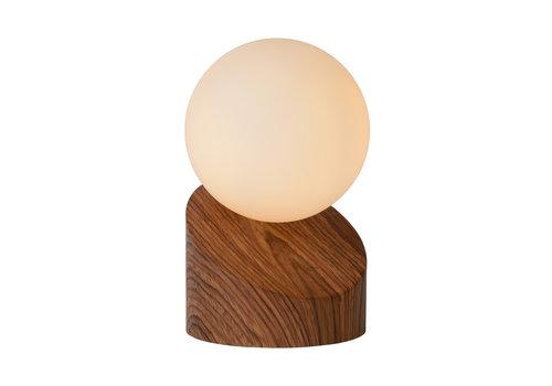 Lucide LEN Tafellamp G9excl Ø10 H16cm Donker Hout