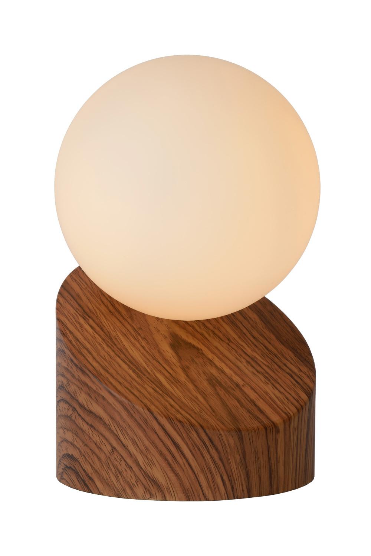 Lucide LEN Tafellamp-Hout-Ø10-1xG9-33W-Metaal