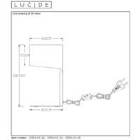 KNULLE Tafellamp E14 H28,5 D15cm Grijs