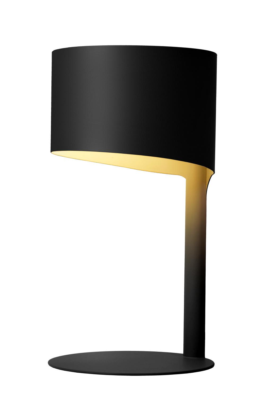 Lucide KNULLE Tafellamp-Zwart-Ø15-1xE14-40W-Metaal