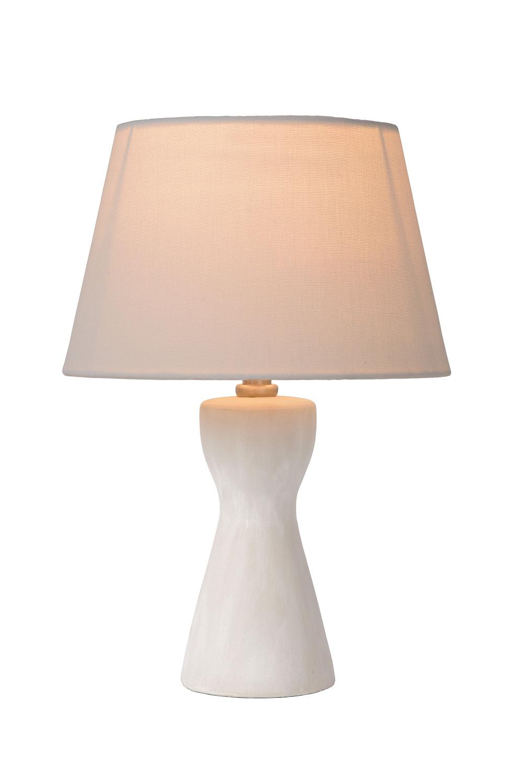Lucide TURA Tafellamp E14 H32cm �20.5cm Wit