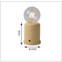 MABLE Tafellamp E27 H12 Ø 10cm Geel