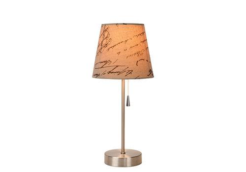 Lucide YOKO Tafellamp E27 H39cm Kap 12/18/15cm Tekst