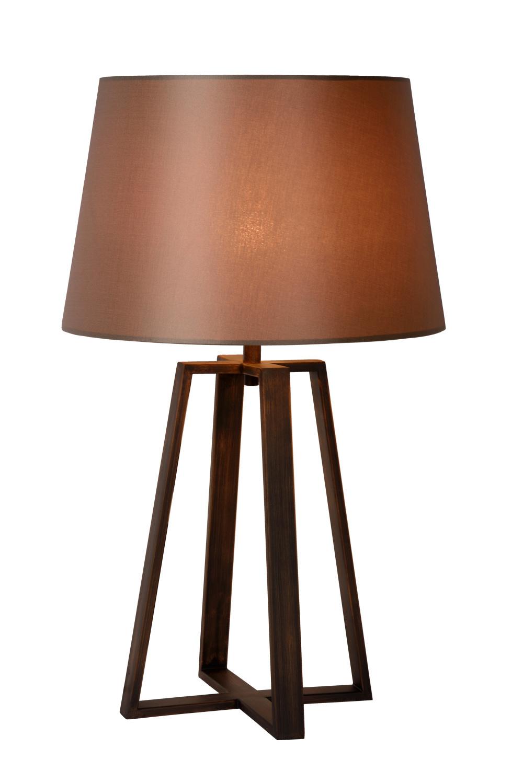 Lucide COFFEE Tafellamp-Bruin-Ø38,5-1xE27-60W-Metaal