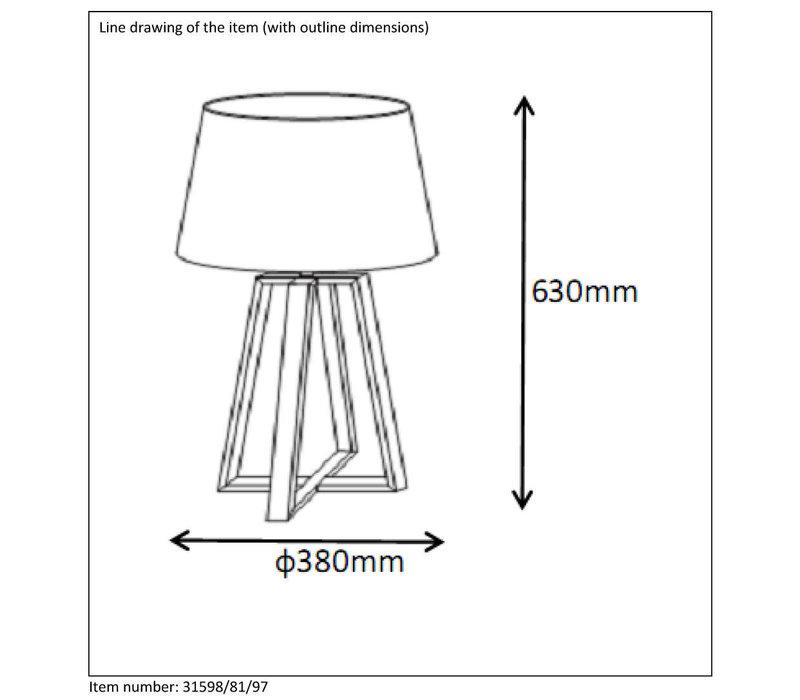 COFFEE Tafellamp E27 D38 H64cm Roest