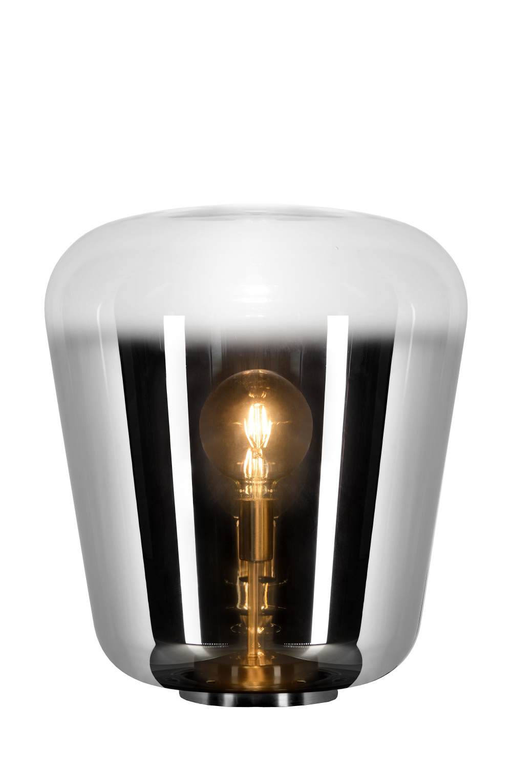 Lucide GLORIO Tafellamp-Fumé-Ø45-1xE27-60W-Glas