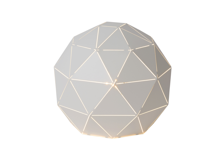 Lucide OTONA Tafellamp-Wit-Ø25-1xE27-25W-Metaal