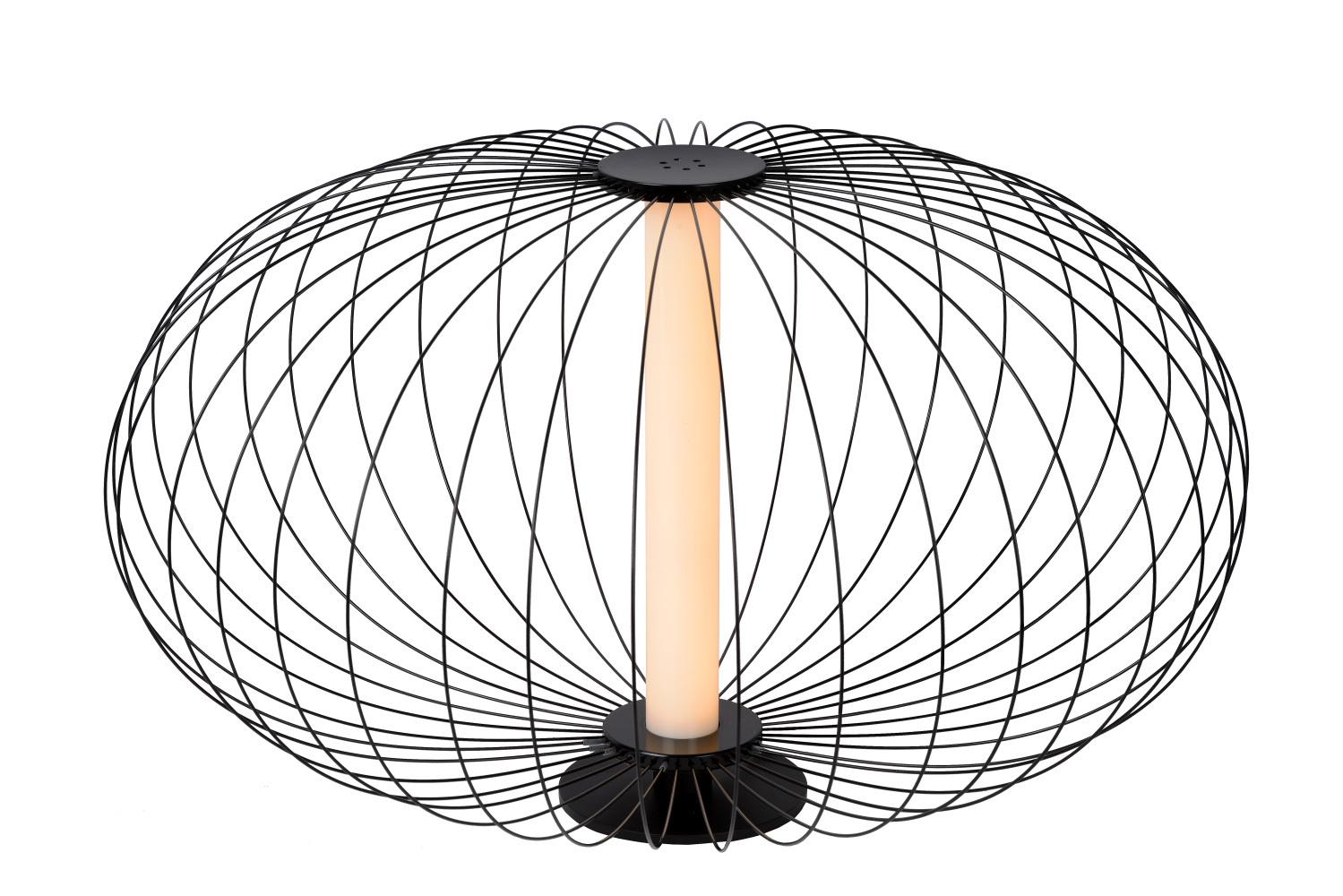 Lucide CARBONY Tafellamp LED 5W 2700K Zwart
