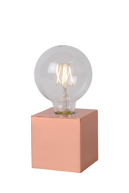 Lucide CUBICO Tafellamp-Koper-Ø9,5-LED-1xE27-5W-2700K