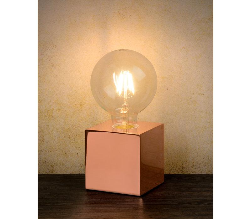 CUBICO Tafellamp E27/5W incl H19 Ø9.5cm Koper