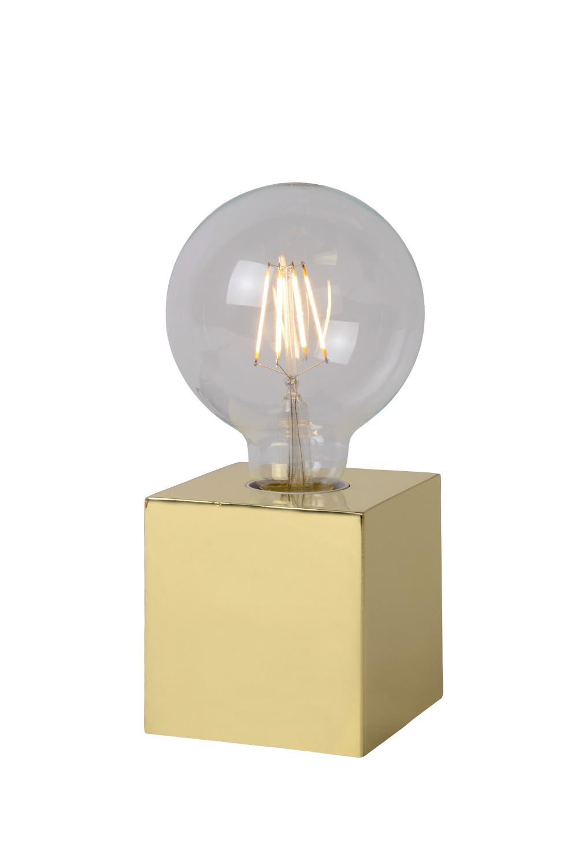 Lucide CUBICO Tafellamp E27/5W incl H19 Ø9.5cm Messing