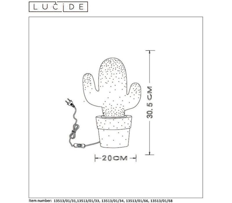CACTUS Tafellamp Groen Keramiek E14 H30.5  Ø20cm