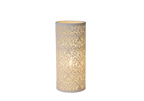 Lucide KANT Tafellamp Keramiek E14 H28 Ø12cm Wit