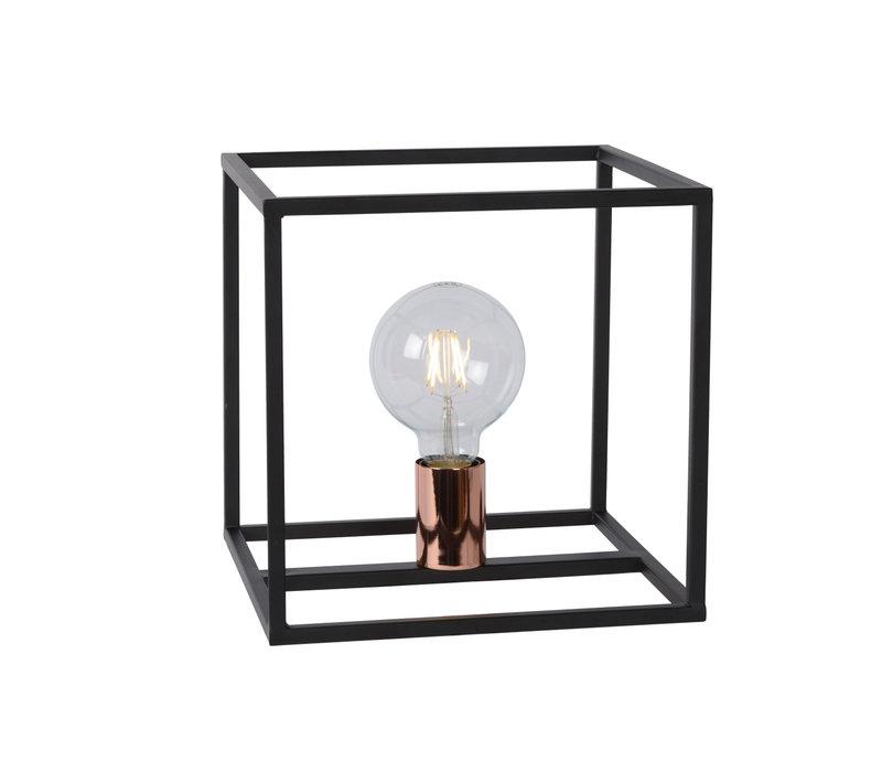 ARTHUR Tafellamp 1xE27 25/25/25cm Zwart