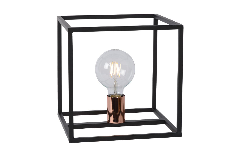 Lucide ARTHUR Tafellamp-Zwart-1xE27-60W-Metaal