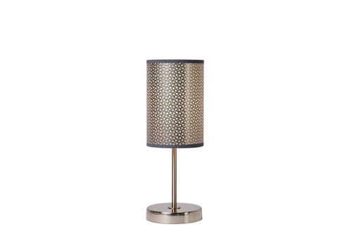 Lucide MODA Tafellamp 1xE27 D13 H37cm  Zilver