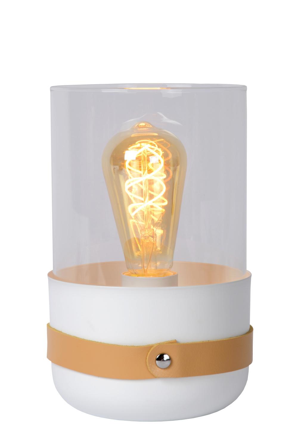 Lucide CENTUR Tafellamp E27/40W H26cm Wit