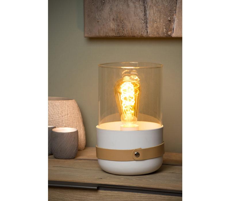 CENTUR Tafellamp E27/40W H26cm Wit
