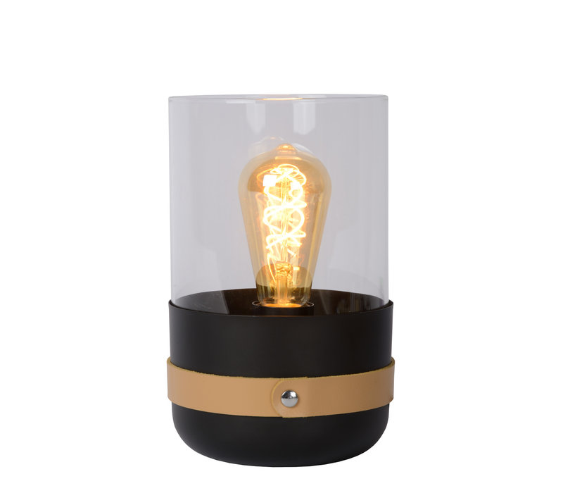 CENTUR Tafellamp E27/40W H26cm Zwart