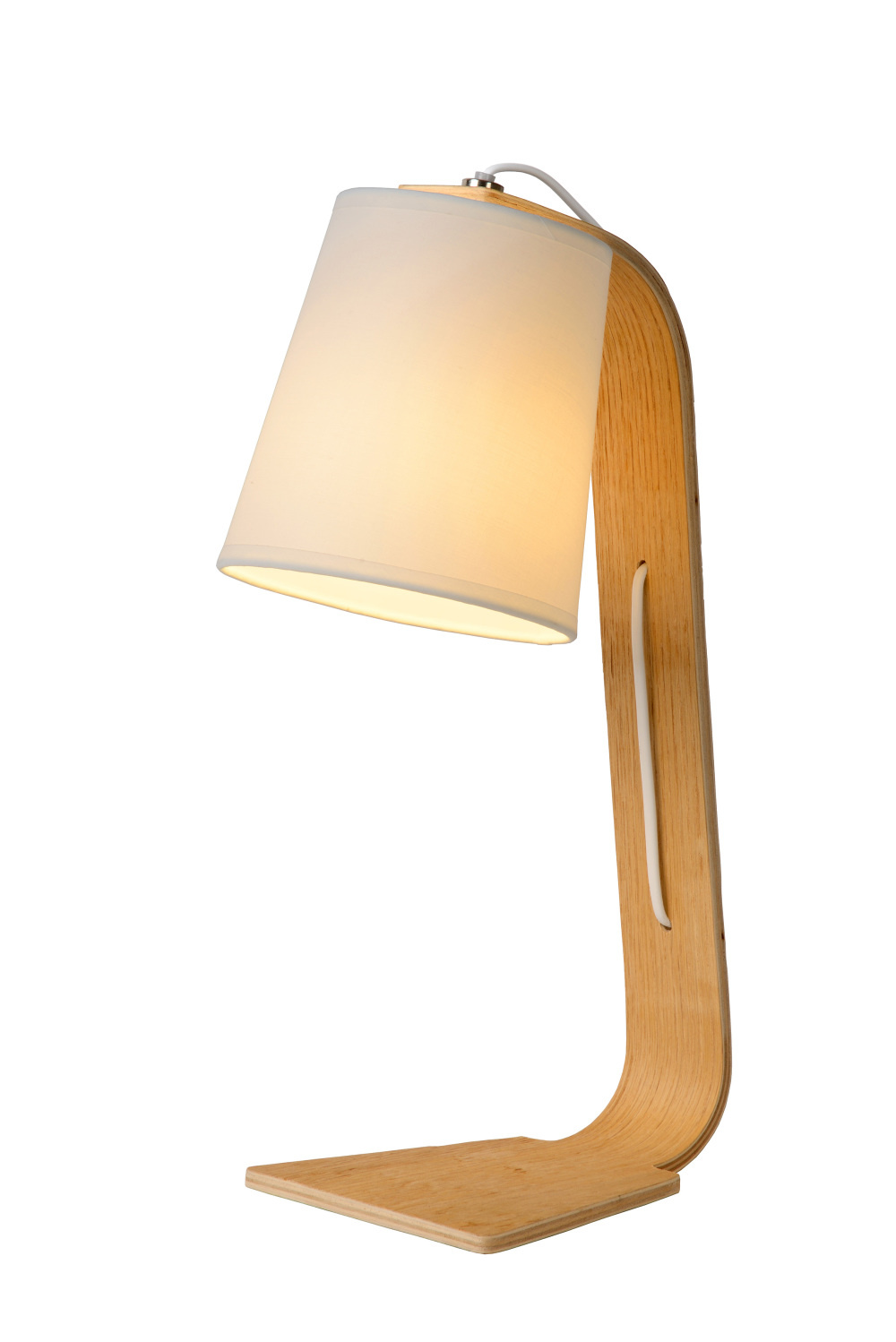 Lucide NORDIC Tafellamp-Wit-1xE14-40W-Hout