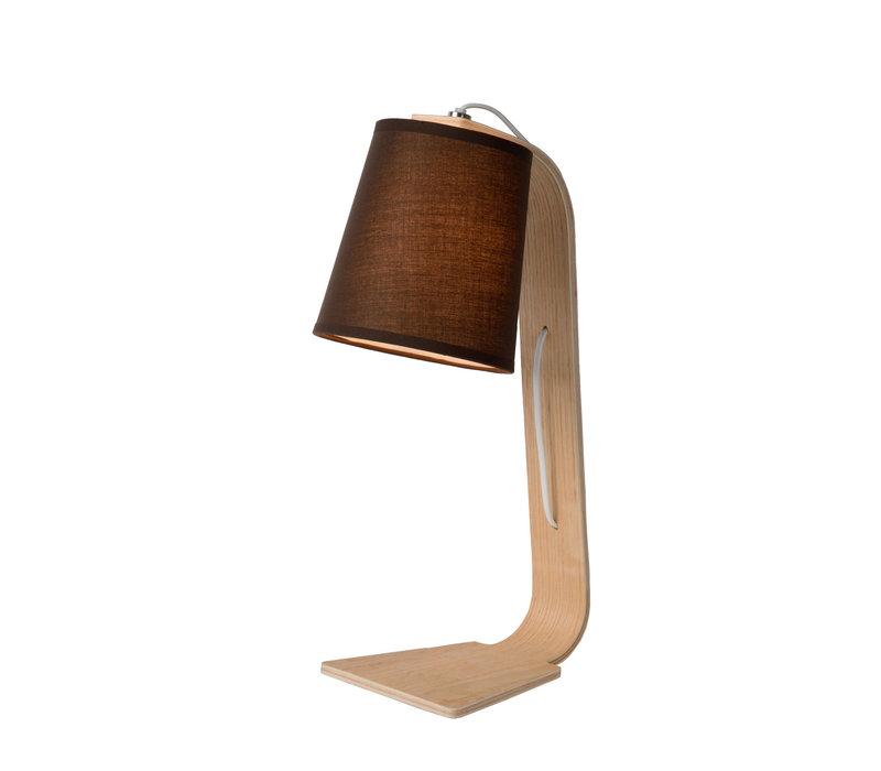 NORDIC Tafellamp E14 15.5/19/48cm Hout/Kap Zwart