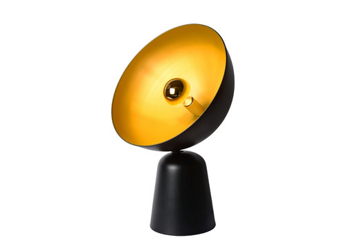 Lucide VIDOR Tafellamp E27/40W H 57cm Zwart/Goud