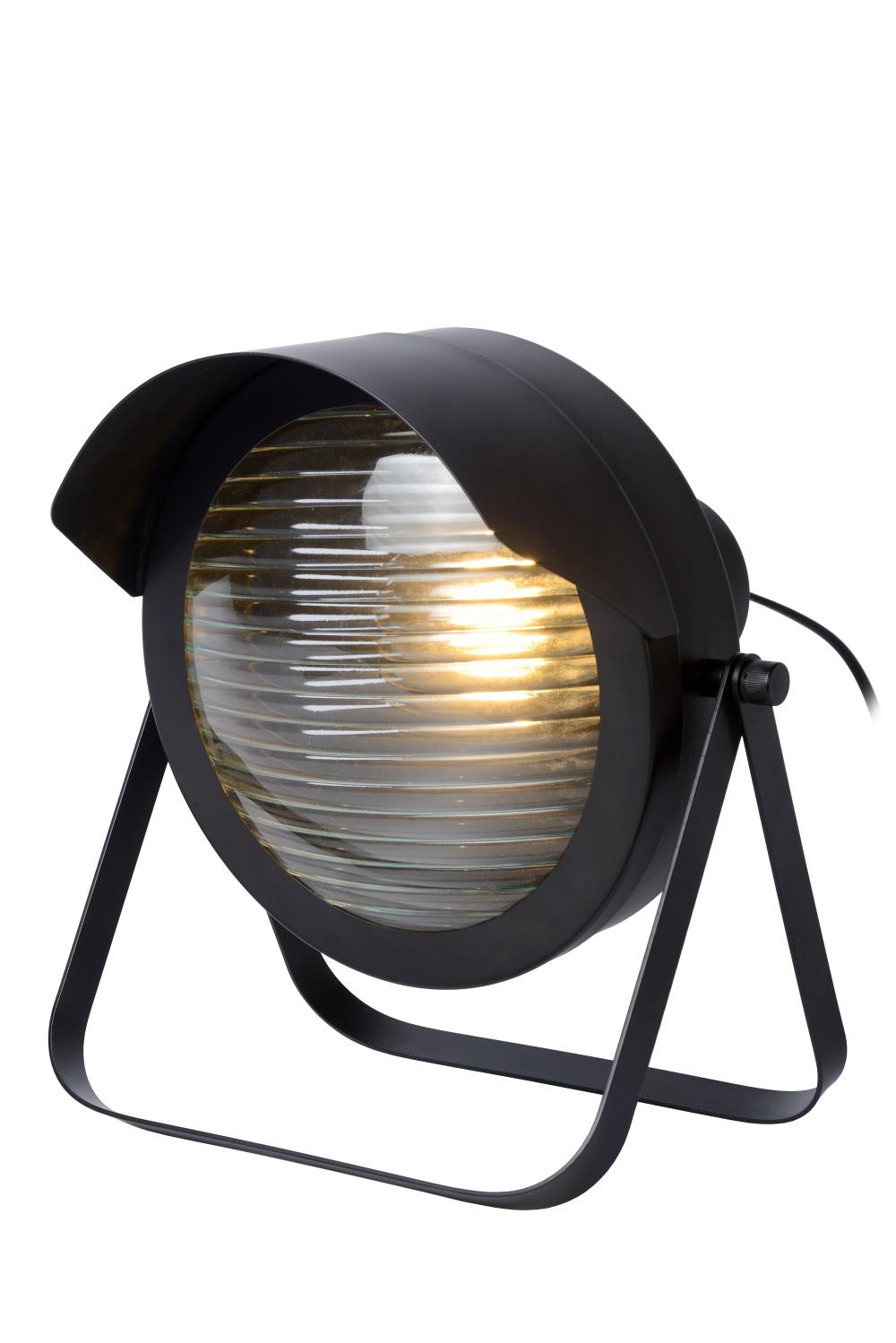 Lucide CICLETA Tafellamp-Zwart-1xE27-40W-Staal