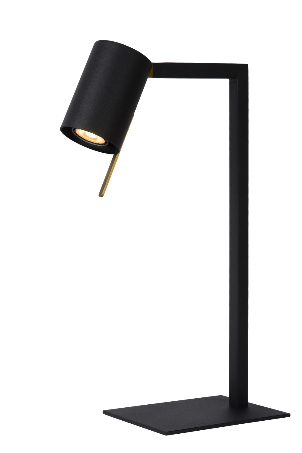 Lucide LESLEY Bureaulamp-Zwart-1xGU10-35W-Metaal