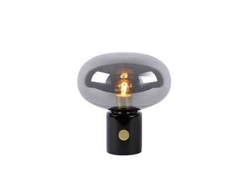 Lucide CHARLIZE Tafellamp E27/40W Smoke glas/Zwart  Marme