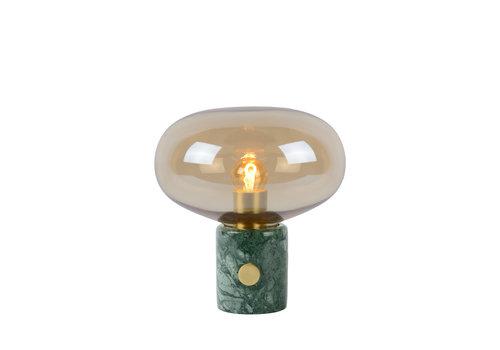Lucide CHARLIZE Tafellamp E27/40W Amber glas/Groen Marmer