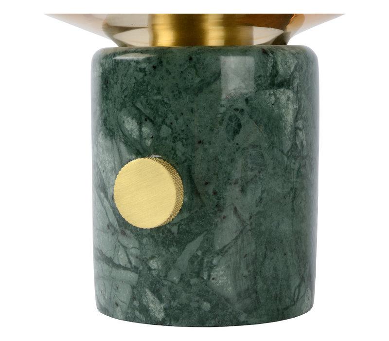 CHARLIZE Tafellamp E27/40W Amber glas/Groen Marmer