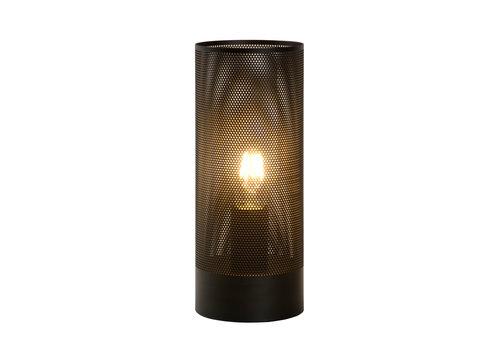 Lucide BELI Tafellamp-Zwart-Ø12-1xE27-60W-Metaal