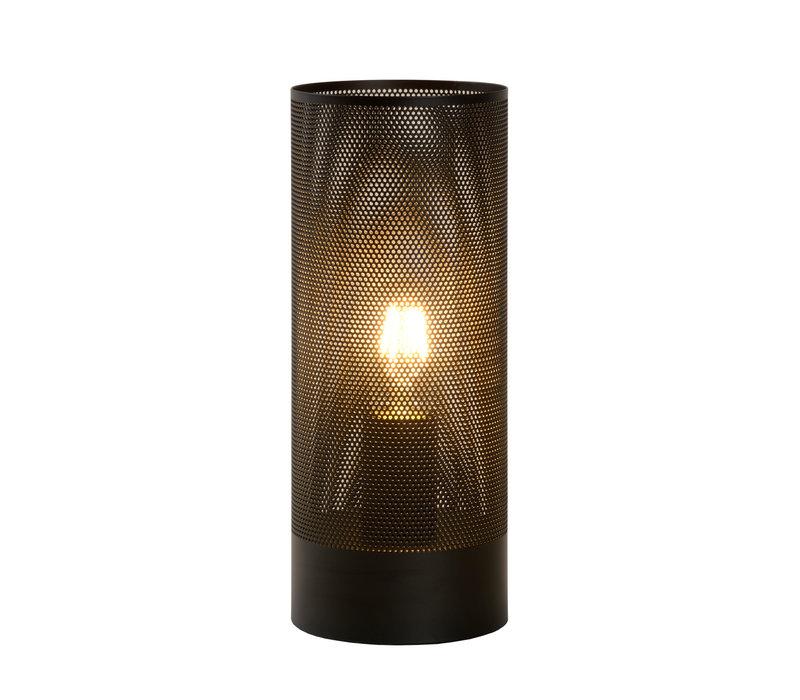 BELI Tafellamp E27 Ø12cm H30cm Zwart